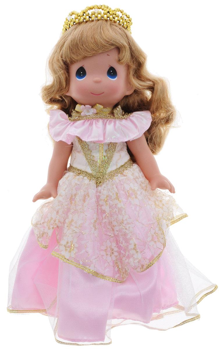 Precious Moments Кукла Спящая красавица цвет платья розовый8381Коллекция кукол Precious Moments ростом выше 30 см насчитывает на сегодняшний день более 600 видов. Куклы изготавливаются из качественного, безопасного материала и имеют пять базовых точек артикуляции. Каждый год в коллекцию добавляются все новые и новые модели. Каждая кукла имеет свой неповторимый образ и характер. Она может быть подарком на память о каком- либо событии в жизни. Куклы выполнены с любовью и нежностью, которую дарит нам известная волшебница - создатель кукол Линда Рик! Кукла Спящая красавица одета в шикарное розовое платье с блестками и золотистой вышивкой. На голове - диадема из бусинок золотистого цвета. У куклы милое личико с большими синими глазами. Вся одежда съемная. Вашей дочурке непременно понравится расчесывать волосы куклы, придумывая различные прически. Кукла научит ребенка взаимодействовать с окружающими, а также поспособствует развитию воображения, логики и тактильного восприятия. Кукла станет отличным подарком для...