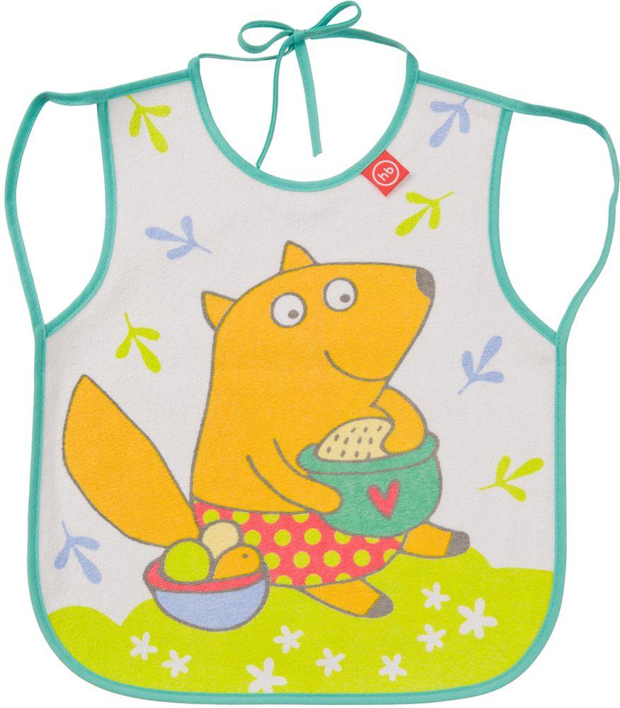 Happy Baby Фартук нагрудный Лисичка16011_лисичкаНагрудный фартук Happy Baby Лисичка выполнен из хлопка, полиэстера и ЭВА и украшен изображением лисички с горшочком. Фартук имеет непромокаемую подкладку, мягкий, приятный на ощупь материал, удобную завязку для быстрого надевания и снимания. Нагрудный фартук Happy Baby Лисичка поможет защитить одежду малыша во время кормления. Рекомендовано детям от 6 месяцев.