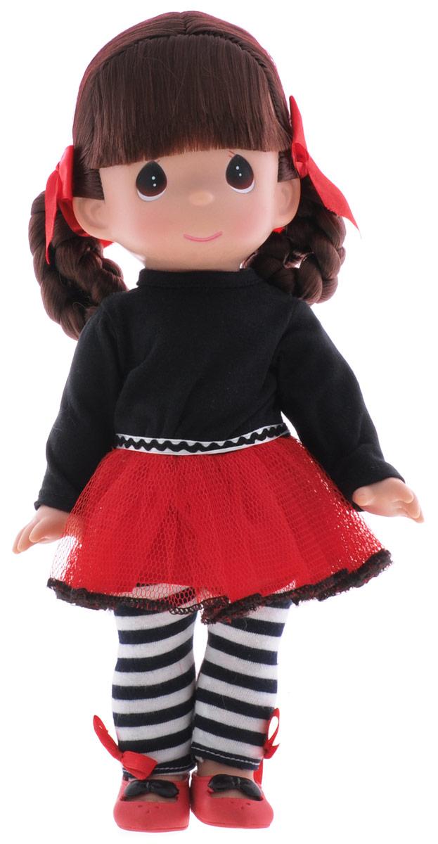 Precious Moments Кукла Дива4684Коллекция кукол Precious Moments ростом выше 30 см насчитывает на сегодняшний день более 600 видов. Куклы изготавливаются из качественного, безопасного материала и имеют пять базовых точек артикуляции. Каждый год в коллекцию добавляются все новые и новые модели. Каждая кукла имеет свой неповторимый образ и характер. Она может быть подарком на память о каком-либо событии в жизни. Куклы выполнены с любовью и нежностью, которую дарит нам известная волшебница - создатель кукол Линда Рик! Кукла Дива одета в черно-красное платье и полосатые лосины, на ногах - красные туфельки. Одежда у куклы съемная. Темные волосы куклы заплетены в озорную прическу с красными ленточками. У девочки большие карие глаза. Игра с куклой разовьет в вашей малышке чувство ответственности и заботы. Порадуйте свою принцессу таким великолепным подарком!