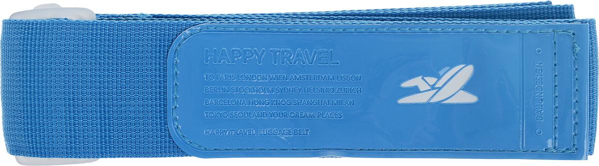 Ремень для чемодана Lucky Club, цвет: голубой, длина 170 смYW-606 BlueРемень Lucky Clab выполнен из полиэстера и фиксируется при помощи липкой ленты. Длина ремня регулируется с помощью пластикового фиксатора. Современные люди очень часто совершают различного рода поездки: путешествия, командировки, деловые поездки. Ремень прост в использовании: перед полетом вы перетягиваете им свою сумку или чемодан, с целью обезопасить тем самым доступ посторонних к вашим личным вещам. Длина: 170 см. Ширина: 5 см.