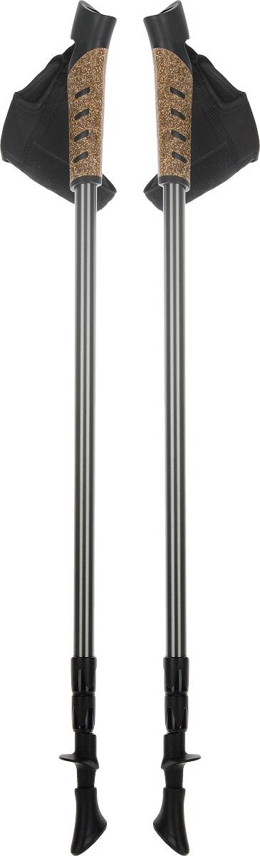 Палки для скандинавской ходьбы, телескопические, длина 67-140 см, 2 шт. FT133FT133Телескопические палки для скандинавской ходьбы с системой секционной блокировки, разработанной по цанговому принципу. Подходят как для продвинутых спортсменов, так и для начинающих. Рукоять снабжена эргономичным регулируемым темляком. При весе всего в 220 г используется легкий, упругий и самый прочный металл. Палки состоят из 3 секций. В нижней секции расположена метрическая разметка для быстрой и точной регулировки длины под рост. Наконечник из полимерного материала, для высокого сцепления. Используются только не токсичные краски. Технологии: Метал. Идеально отполированные детали. 67-140 - шаблон моделирования высоты, универсальный рост. Эргономичный темляк для скандинавской ходьбы. Надежная и удобная система секционной блокировки, основанная на цанговом принципе. Пластиковые детали от ведущего производителя. Комплектация: Палки телескопические для скандинавской ходьбы - 1 пара.