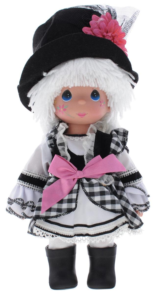 Precious Moments Кукла Клоун девочка4661Коллекция кукол Precious Moments ростом выше 30 см насчитывает на сегодняшний день более 600 видов. Куклы изготавливаются из качественного, безопасного материала и имеют пять базовых точек артикуляции. Каждый год в коллекцию добавляются все новые и новые модели. Каждая кукла имеет свой неповторимый образ и характер. Она может быть подарком на память о каком- либо событии в жизни. Куклы выполнены с любовью и нежностью, которую дарит нам известная волшебница - создатель кукол Линда Рик! Кукла Клоун очарует вас и вашу дочурку с первого взгляда! Кукла одета в веселый костюм клоуна. Очаровательные волосы белого цвета, сплетенные из нитей, дополняют прекрасный образ. На ногах у куклы одеты черные сапоги. Одежда куклы съемная. На веселом личике девочки большие глаза синего цвета. Игра с куклой разовьет в вашей малышке чувство ответственности и заботы. Порадуйте свою принцессу таким великолепным подарком!
