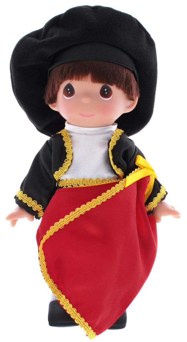Precious Moments Кукла Сантьяго Испания3539Коллекция кукол Precious Moments насчитывает на сегодняшний день более 600 видов. Куклы изготавливаются из качественного и безопасного материала. Каждый год в коллекцию добавляются все новые и новые модели. Каждая кукла имеет свой неповторимый образ и характер. Она может быть подарком на память о каком-либо событии в жизни. Куклы выполнены с любовью и нежностью, которую дарит нам известная волшебница - создатель кукол Линда Рик! Кукла Сантьяго. Испания выглядит как настоящий тореадор. Сантьяго одет в черный костюм и черную шляпу, в руках держит красную тряпку. У мальчика темные волосы и большие карие глаза. Вся одежда съемная. Кукла научит ребенка взаимодействовать с окружающими, а также поспособствует развитию воображения, логики и тактильного восприятия. Кукла станет отличным подарком для девочки, а также ценным экспонатом любой коллекции кукол.