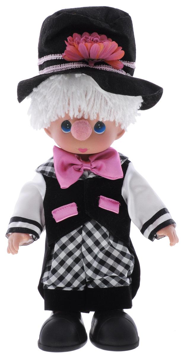 Precious Moments Кукла Клоун мальчик4662Коллекция кукол Precious Moments ростом выше 30 см насчитывает на сегодняшний день более 600 видов. Куклы изготавливаются из качественного, безопасного материала и имеют пять базовых точек артикуляции. Каждый год в коллекцию добавляются все новые и новые модели. Каждая кукла имеет свой неповторимый образ и характер. Она может быть подарком на память о каком-либо событии в жизни. Куклы выполнены с любовью и нежностью, которую дарит нам известная волшебница - создатель кукол Линда Рик! Кукла Клоун очарует вас и вашу дочурку с первого взгляда! Кукла одета в забавный костюм клоуна. Очаровательные волосы белого цвета, сплетенные из нитей, дополняют прекрасный образ. На ногах у куклы одеты ботинки большого размера. Одежда куклы съемная. У мальчика большие синие глаза. Игра с куклой разовьет в вашей малышке чувство ответственности и заботы. Порадуйте свою принцессу таким великолепным подарком!