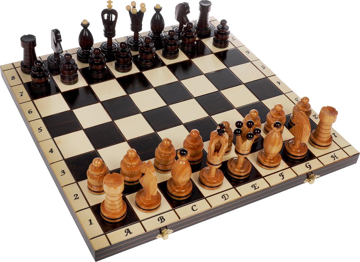 Шахматы Madon Королевские 50, дерево, размер: 50х25х6 см. 107107Шахматы Королевские 50 (50х25х6 см) дерево. 107