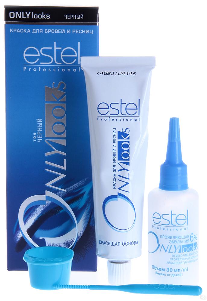 Estel Only Looks Краска для бровей и ресниц Тон черный 50 мл + 30 мл601Специальная краска Estel Only looks благоприятна для чувствительной кожи вокруг глаз. Не содержит парфюмерных масел. Имеет мягкую, удобную в обращении консистенцию и нейтральную величину pH. Полученный оттенок держится около 3-4 недель. Одной упаковки краски хватит для многократного использования в течение примерно 1 года. В комплект краски входят: туба с крем-краской, 50 мл флакон с проявляющей эмульсией, 30 мл мисочка для краски, лопаточка для размешивания и нанесения, инструкция по применению.