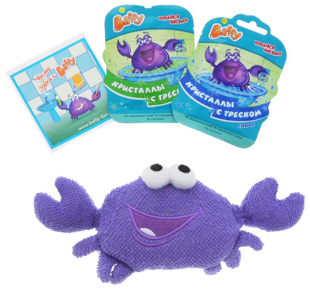 Baffy Набор средств для купания Твой Baffy цвет фиолетовыйD0112_фиолетовыйНабор средств для купания Твой Baffy превратит купание в интересную увлекательную игру с помощью необычной мочалки игрушки Baffy. Мочалка, изготовленная из натуральных, долговечных и нетоксичных материалов, мягко очистит кожу вашего ребенка и станет его любимой игрушкой. А кристаллы с треском, входящие в набор, станут приятным сюрпризом и продлят веселье вашего ребенка в ванной. Теперь ваш ребенок будет играть и купаться в ванне одновременно. Использоваться под наблюдением взрослых. Не использовать в пищевых целях. Хранить в недоступном для детей месте.