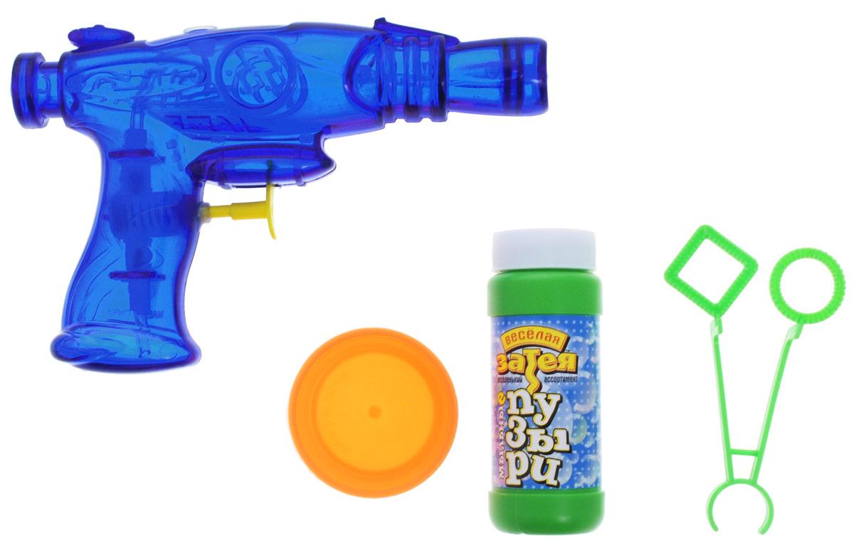 Веселая затея Набор для пускания мыльных пузырей цвет синий1504-0027_синийКлассические мыльные пузыри - забава интересная. Вы сможете порадовать своих детей и испытать приятные эмоции сами! В комплект набора Веселая затея входят емкость с мыльным раствором, баночка для мыльного раствора, фигурные палочки для пускания мыльных пузырей, водный пистолет.