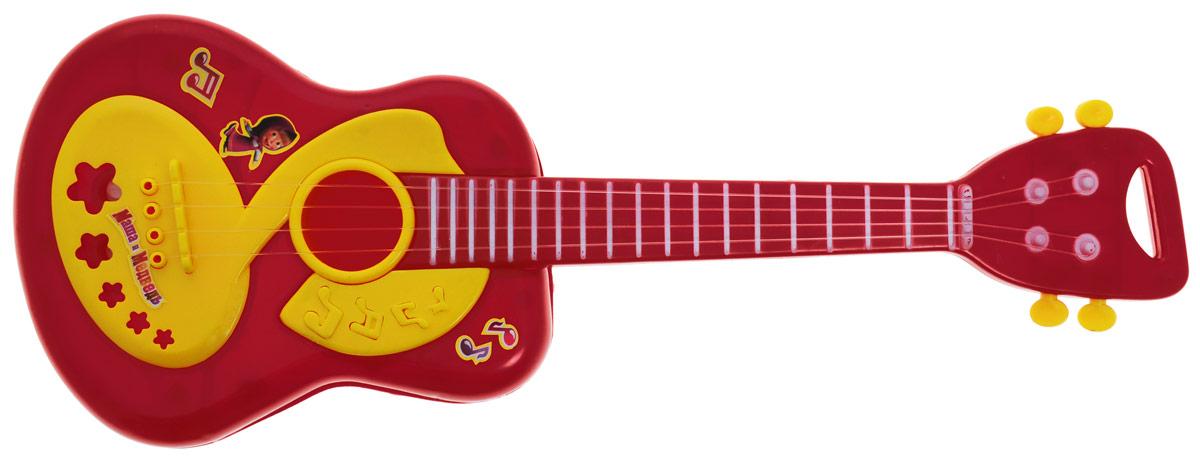 Играем вместе Гитара Маша и Медведь цвет темно-красныйB278735-R2Гитара Играем вместе Маша и Медведь понравится вашему ребенку и не позволит ему скучать. Она выполнена из прочного и безопасного материала с 4 струнами. Данное изделие сможет стать первым музыкальным инструментом юного композитора или рок-певца. Гитара Играем вместе Маша и Медведь поможет ребенку развить звуковое восприятие, музыкальный слух, мелкую моторику рук и координацию движений. С такой игрушкой ваш ребенок порадует вас замечательным концертом!