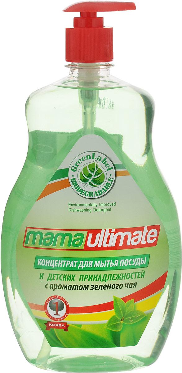 Гель для мытья посуды и детских принадлежностей Mama Ultimate, концентрат, с ароматом зеленого чая, 1 л49139Гель для мытья посуды и детских принадлежностей Mama Ultimate прекрасно моет в воде любой жесткости и температуры. Подходит для мытья посуды из фарфора, хрусталя, стекла, тефлона, пластика, металла и другого материала, а также может использоваться для мытья овощей и фруктов. Гель растворяет жиры, смывает остатки пищи, не оставляет разводов и пятен на посуде. Благодаря антибактериальной биоразлагаемой формуле и густой консистенции средство обеспечивает минимальный расход. Содержит минеральные экстракты, которые позволяют мыть посуду, не иссушая и не раздражая кожу рук. Состав: 30% и более вода, 5% или более, но менее 15% натрия лауретсульфат, менее 5% алкилбензолсульфокислота, хлорид натрия, гидроксид натрия, метилизотиазолинол и метилхлоризотиазолинол, триолан Б, парфюмерная композиция, краситель. Товар сертифицирован.