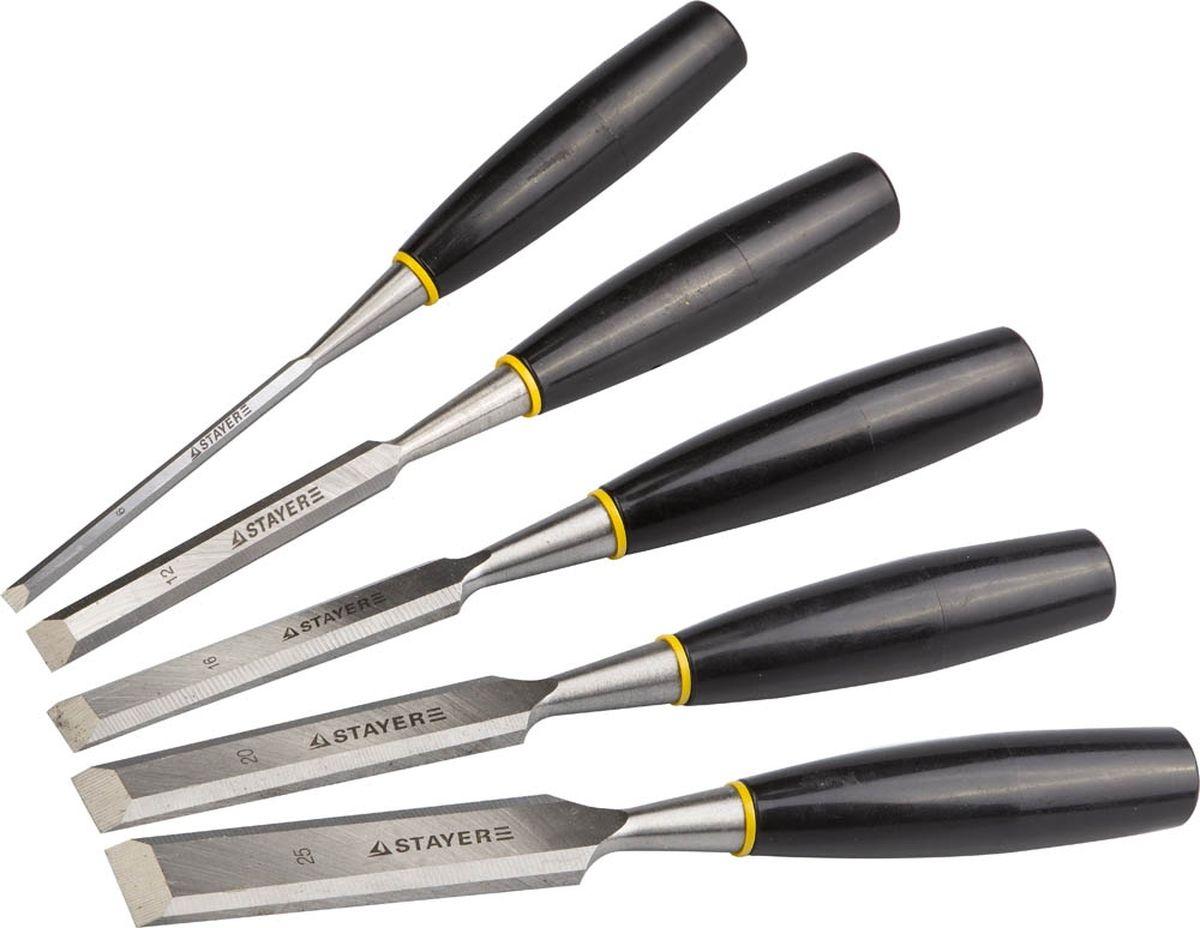 Набор Stayer Стамески Master с пластмассовой ручкой, 6 мм, 12 мм, 16 мм, 20 мм, 25 мм, 5 шт1820-H5