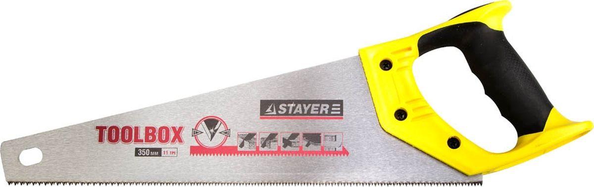 """Ножовка по дереву Stayer """"Master. Toolbox"""", для точного пиления, 35 см 2-15091-45"""