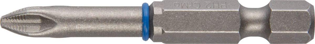 Биты Зубр Эксперт торсионные кованые, обточенные, хромомолибденовая сталь, тип хвостовика E 1/4, PH2, 50 мм, 2шт26011-2-50-2
