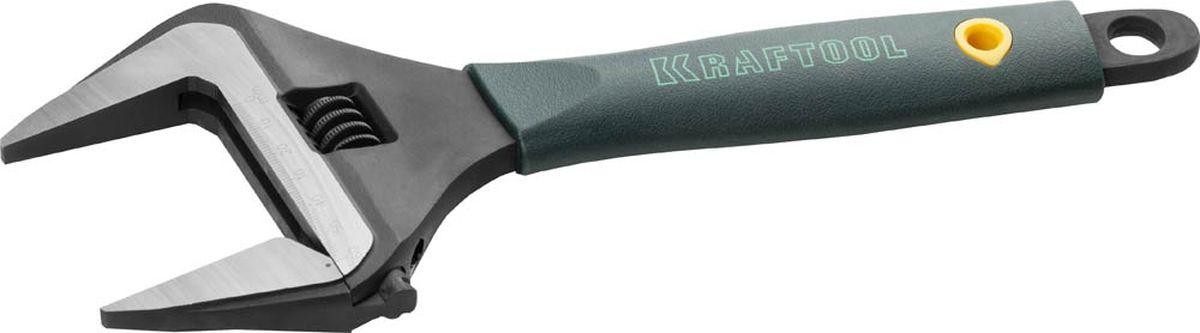 Ключ Kraftool разводной, Cr-V, угол наклона губок 15, 300 мм/12, 60 мм27258-30
