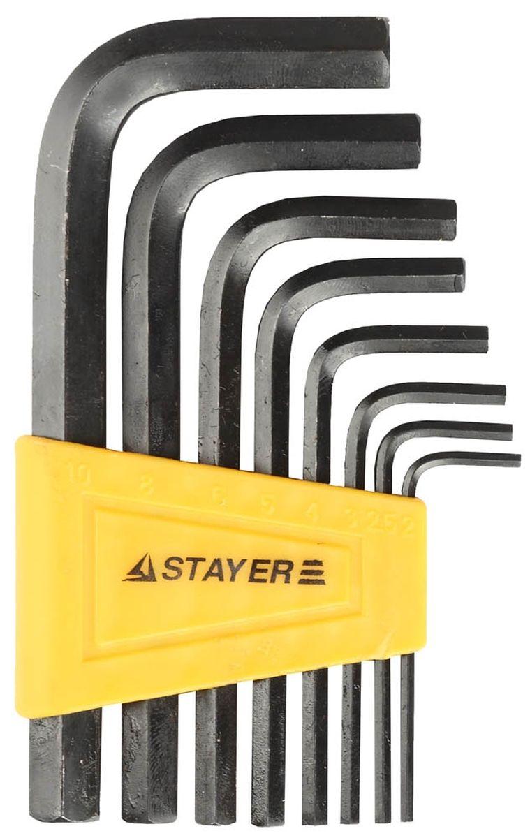 Набор Stayer Ключи Standard имбусовые, 2 - 10 мм, 8 шт27405-H8