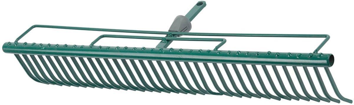 Грабли Raco Maxi, с быстрозажимным механизмом, 60 см4230-53841Грабли Raco Maxi изготовлены из стали, предназначены для очистки газонов от скошенной травы и листьев. Грабли имеют специальные травозадерживающие перемычки, которые покрыты защитным эпоксидным составом. Грабли Raco Maxi оснащены быстрозажимным механизмом One-Touch, который позволяет легко и быстро заменить грабли на нужные по размеру. Грабли отличаются износостойкостью и долгим сроком эксплуатации. Ширина рабочей части: 60 cм. Количество зубцов: 35.