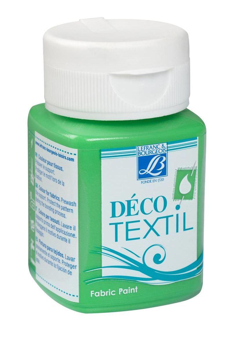 Краска по ткани Lefranc & Bourgeois Deco Textil, 50 мл, цвет: 543 Зеленый луг. LF211485LF211485