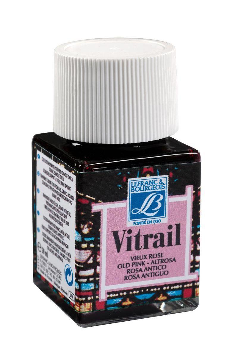 Краска по стеклу Lefranc & Bourgeois Vetrail, 50 мл, цвет: 374 Античный розовый. LF211587LF211587Краски Vitrail густые, прозрачные, взаимосмешиваемые. При нанесении образуют ровный глянцевый слой, не образуют подтеков и не мутнеют после высыхания. Краски для стекла Vitrail представлены в ассортименте из 18 ярких глянцевых цветов в стеклянных баночках по 50 мл. Эти краски идеально походят для создания витражей и декорирования.