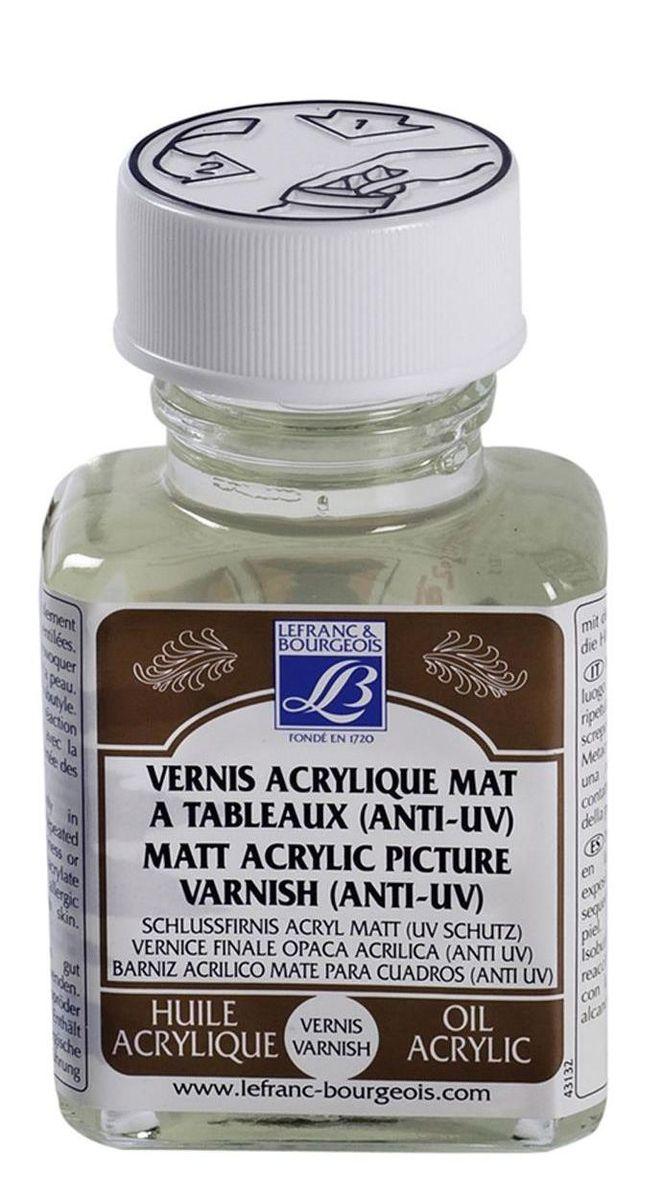 Лак акриловый Lefranc & Bourgeois матовый, анти-UV, 75 мл. LF300205LF300205