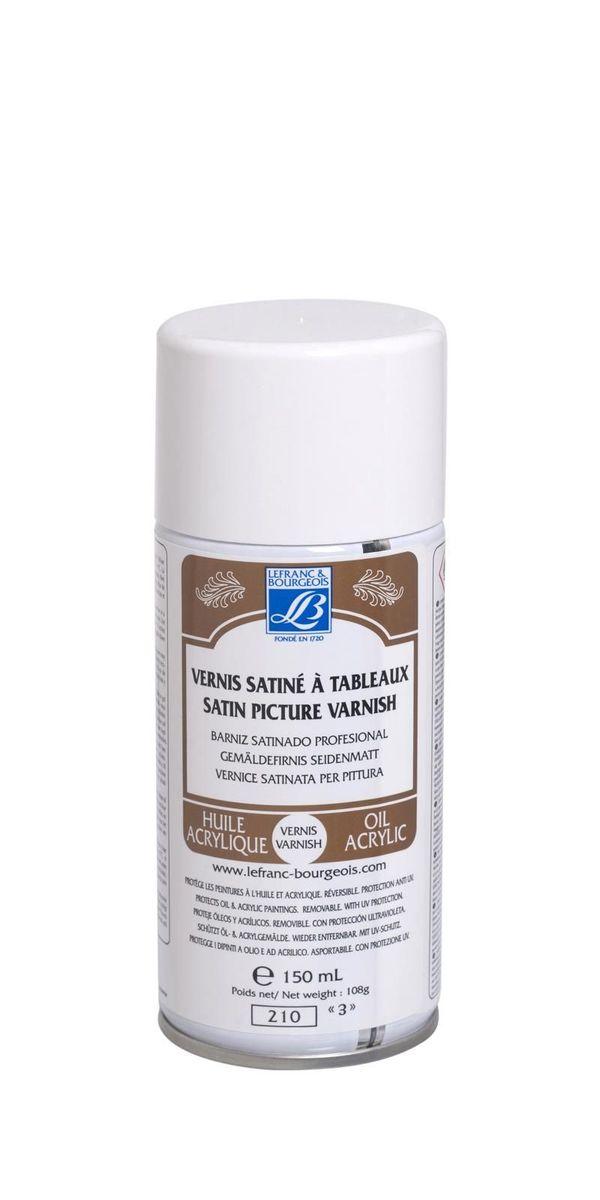 Лак живописный матовый Lefranc & Bourgeois анти-UV аэрозоль, 150 мл. LF300215LF300215