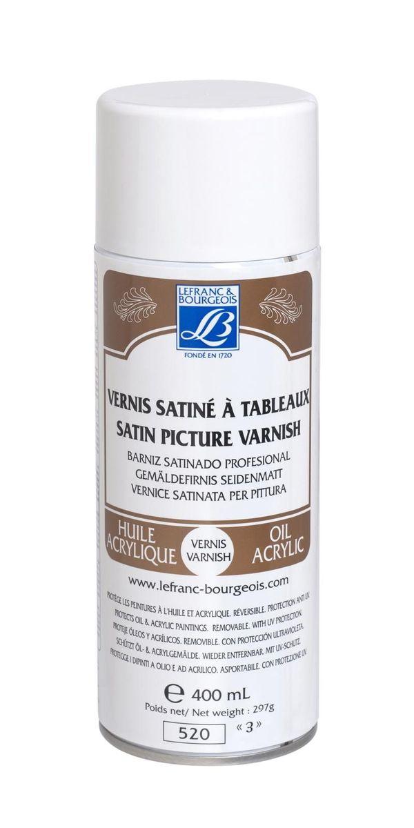 Лак живописный матовый Lefranc & Bourgeois анти-UV аэрозоль, 400 мл. LF300216LF300216