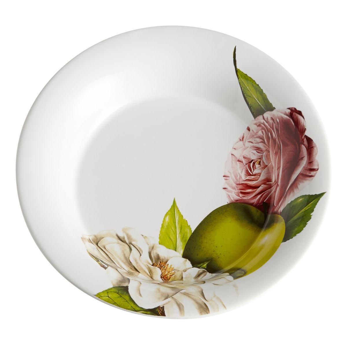 Тарелка суповая Яблоки и камелии. CV2-4822.2-ALCV2-4822.2-ALКерамическая посуда итальянской фабрики «Ceramiche Viva» известна не только своим превосходным качеством, но и удивительными, неповторимыми дизайнами, отличающими ее от любой другой керамической посуды.Помимо внешней привлекательности посуда «Ceramiche Viva» обладает и прекрасными практическими свойствами: посуду «Ceramiche Viva» можно мыть в посудомоечной машине и использовать в микроволновой печи. Не разрешается применять при мытье посуды абразивные порошки. Поверхность изделий покрыта высококачественной глазурью, не содержащей свинца.