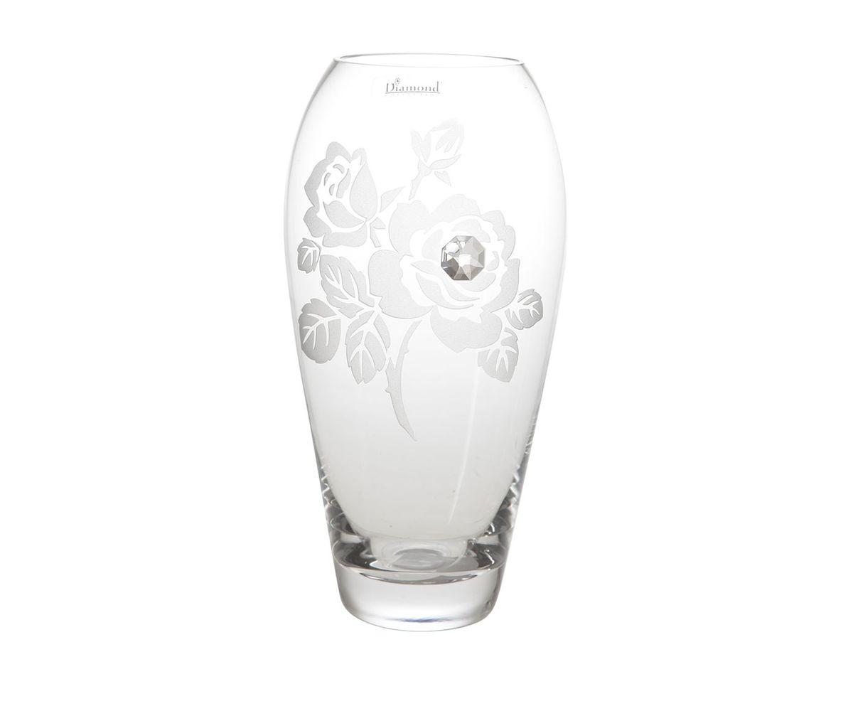 Ваза для цветов Роза. D04021/0257/X2483ALD04021/0257/X2483ALСтекольный завод «DECO GLASS» хорошо известен во всем мире, как производитель качественных изделий из стекла ручной работы. Продукция завода отличается удивительной прозрачностью, современным дизайном, широким и постоянно обновляющимся ассортиментом. Изделия этой фабрики представлены в различных формах и стилях, украшены кристаллами и разнообразными декорами.