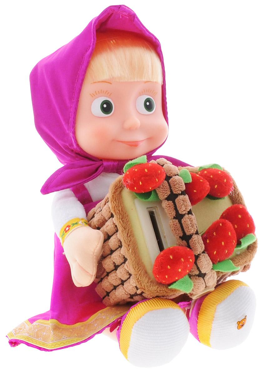 Мульти-Пульти Мягкая игрушка Маша с копилкой 20 смV91753/30Мягкая озвученная игрушка Мульти-Пульти Маша с копилкой вызовет улыбку у каждого, кто ее увидит! Игрушка выполнена в виде Маши - главной героини популярного мультфильма Маша и Медведь. Туловище игрушки - мягконабивное, голова - пластиковая. Одета она в свой любимый сарафан, на голове повязан платочек такого же цвета, под ним - длинные светлые волосы. При включении игрушки Маша говорит Ну, голубчики, давай делиться!. Если бросить в копилку монетку, Маша произносит Секундочку! Маловато будет! Еще давай! Если бросить еще монетку, Маша расскажет считалочку, скороговорку, загадку, стишок, научит счету, споет 2 песенки из мультфильма. Игрушка подарит своему обладателю хорошее настроение и позволит насладиться обществом любимой героини. Для работы игрушки необходимо докупить 3 батарейки типа напряжением 1,5V типа АА (товар комплектуется демонстрационными).