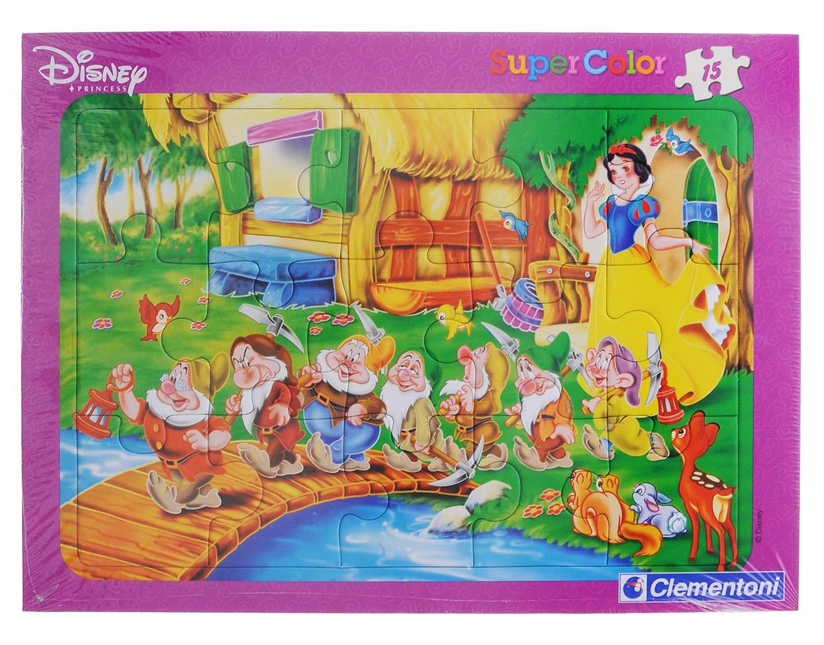 Clementoni Пазл для малышей Белоснежка22056_БелоснежкаПазл для малышей Clementoni Белоснежка придется по душе вашему ребенку. Собрав этот пазл, включающий в себя 15 элементов, вы получите яркую картинку из диснеевского мультфильма про Белоснежку. Пазл - великолепная игра для семейного досуга. Сегодня собирание пазлов стало особенно популярным, главным образом, благодаря своей многообразной тематике, способной удовлетворить самый взыскательный вкус. А для детей это не только интересно, но и полезно. Собирание пазла развивает мелкую моторику у малыша, тренирует наблюдательность, логическое мышление, знакомит с окружающим миром, с цветом и разнообразными формами.