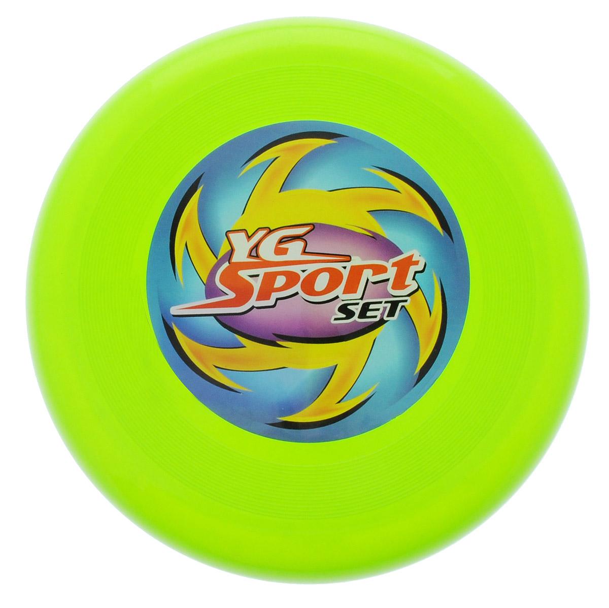 YG Sport Летающий диск цвет салатовыйYG03JЛетающий диск YG Sport выполнен из прочного материала, что обеспечивает ему долговечность. А яркость и особая форма делают его идеальным для спортивных развлечений! Летающий диск способен поднять настроение всем! Каждый ребенок будет рад такому яркому и спортивному подарку.