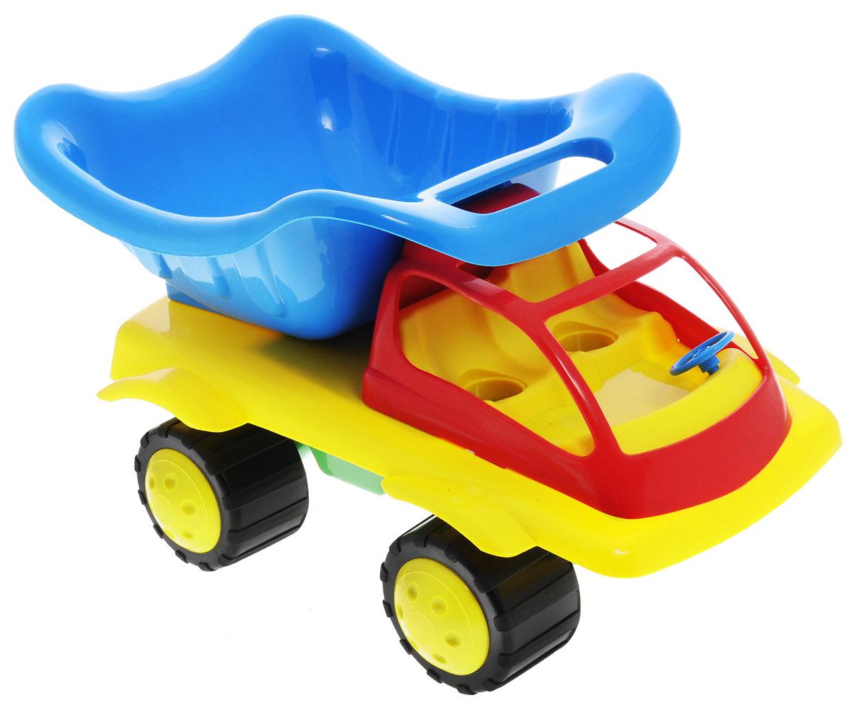 Zebratoys Самосвал Тюльпан 15-506015-5060Самосвал Zebratoys Тюльпан отличается большим размером и отсутствием острых углов, что несомненно сказывается на безопасности при использовании. Вместительный кузов самосвала поднимается и опускается. Большие и широкие колеса обеспечивают машине устойчивость и хорошую проходимость. Ваш юный строитель сможет прекрасно провести время дома или на улице, подвозя к месту игрушечной стройки необходимые предметы на этом красочном самосвале. Эта игрушка станет замечательным подарком для самых маленьких.
