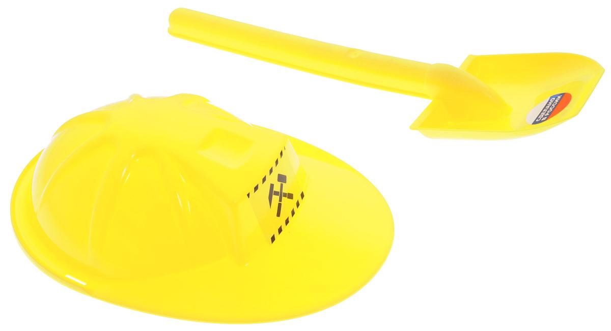 Zebratoys Набор для песочницы цвет желтый 2 предмета15-10594Набор для песочницы Zebratoys сделает игры в песке еще более увлекательными и захватывающими. Набор включает в себя 2 предмета: лопатку и каску. Элементы набора изготовлены из высококачественного и безопасного пластика, имеют яркий желтый цвет. Игры в песке способствуют развитию мелкой моторики ребенка, координации движений, тактильного и цветового восприятия, а также воображения и творческого мышления. С набором для песочницы Zebratoys играть станет еще веселее, ведь он откроет вашему малышу новые просторы для творчества!