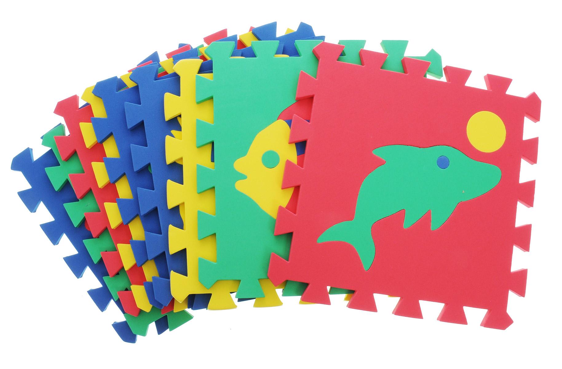 Бомик Пазл для малышей Коврик Мозаика406Пазл для малышей Бомик Коврик. Мозаика - увлекательная игра и интересное занятие для развития ребенка. Пазл выполнен из мягкого полимера, поэтому детали легко гнутся и не ломаются, их всегда можно состыковать. Пазл представляет собой 9 ковриков, каждый размером 28 см на 28 см с силуэтами-вкладышами в виде различных фигур. Пазл развивает у ребенка память, воображение, моторику, пространственное и логическое мышление.