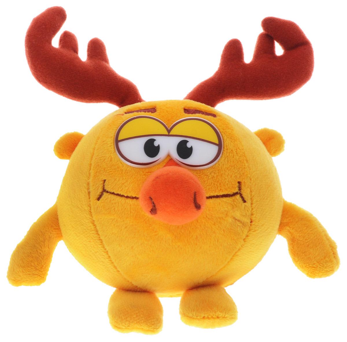 Мульти-Пульти Мягкая озвученная игрушка Смешарики Лосяш 10 смSF1401_ЛосяшМягкая озвученная игрушка Мульти-Пульти Смешарики. Лосяш подарит вашему ребенку много радости и веселья! При нажатии кнопки, расположенной на лапке Лосяша, он говорит несколько фраз и забавно смеется. Лосяш - умный и несколько упрямый лось-ученый, который хорошо знает астрономию, биологию, химию, физику, интересуется и другими науками. У него дома огромная библиотека. Когда он читает, любит поесть. Из-за чрезмерной увлеченности Лосяша в его доме страшный беспорядок. Игрушка работает от незаменяемых батареек.