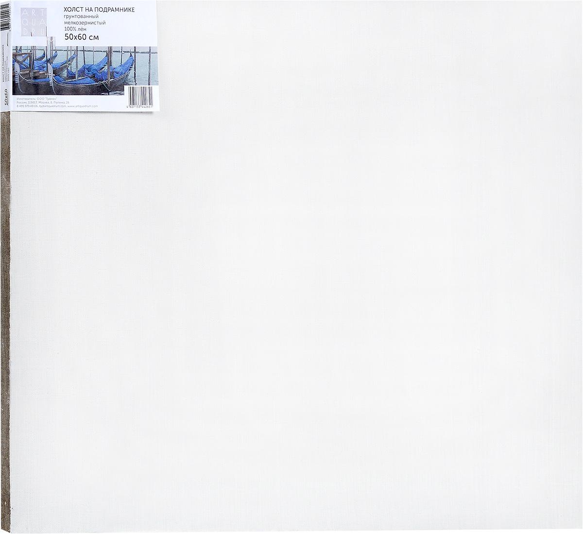 Холст ArtQuaDram Мелкозернистый на подрамнике, грунтованный, 50 х 60 смТ0003841Холст на деревянном подрамнике ArtQuaDram Мелкозернистый изготовлен из 100% натурального льна. Подходит для профессионалов и художников. Холст не трескается, не впитывает слишком много краски, цвет краски и качество не изменяются. Холст идеально подходит для масляной и акриловой живописи.