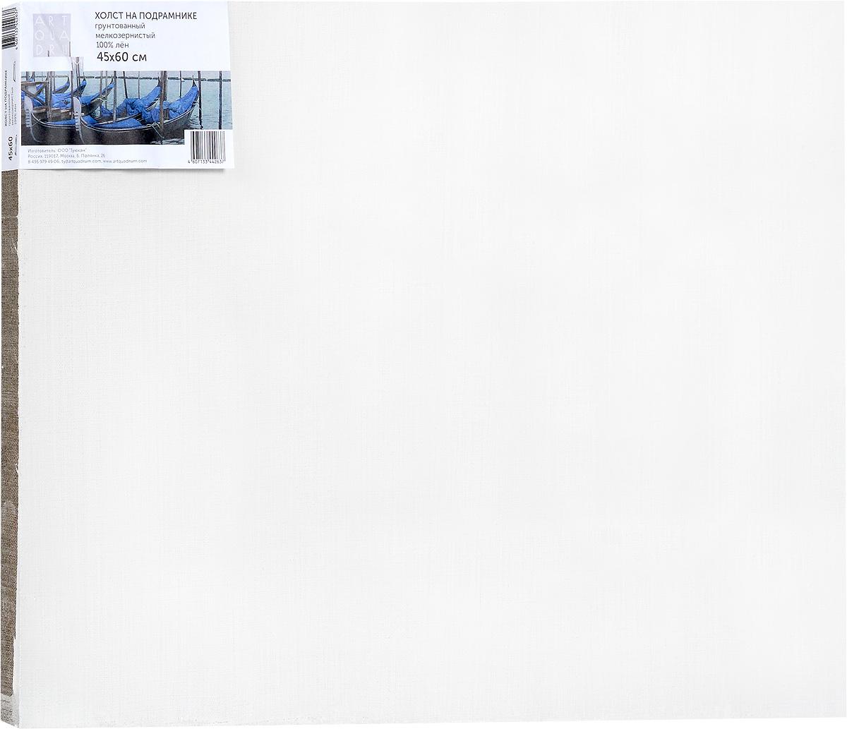 Холст ArtQuaDram Мелкозернистый на подрамнике, грунтованный, 45 х 60 смТ0003838Холст на деревянном подрамнике ArtQuaDram Мелкозернистый изготовлен из 100% натурального льна. Подходит для профессионалов и художников. Холст не трескается, не впитывает слишком много краски, цвет краски и качество не изменяются. Холст идеально подходит для масляной и акриловой живописи.