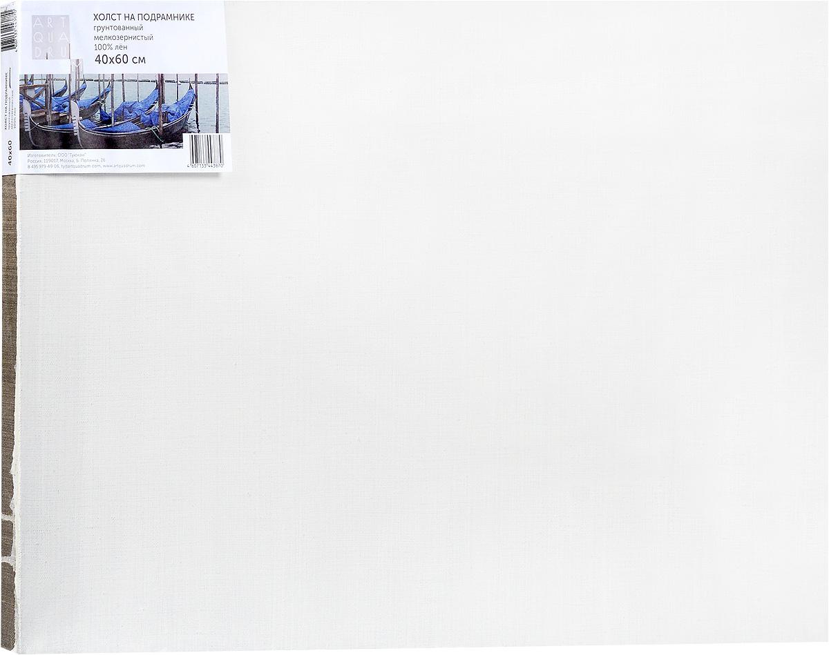 Холст ArtQuaDram Мелкозернистый на подрамнике, грунтованный, 40 х 60 смТ0003834Холст на деревянном подрамнике ArtQuaDram Мелкозернистый изготовлен из 100% натурального льна. Подходит для профессионалов и художников. Холст не трескается, не впитывает слишком много краски, цвет краски и качество не изменяются. Холст идеально подходит для масляной и акриловой живописи.