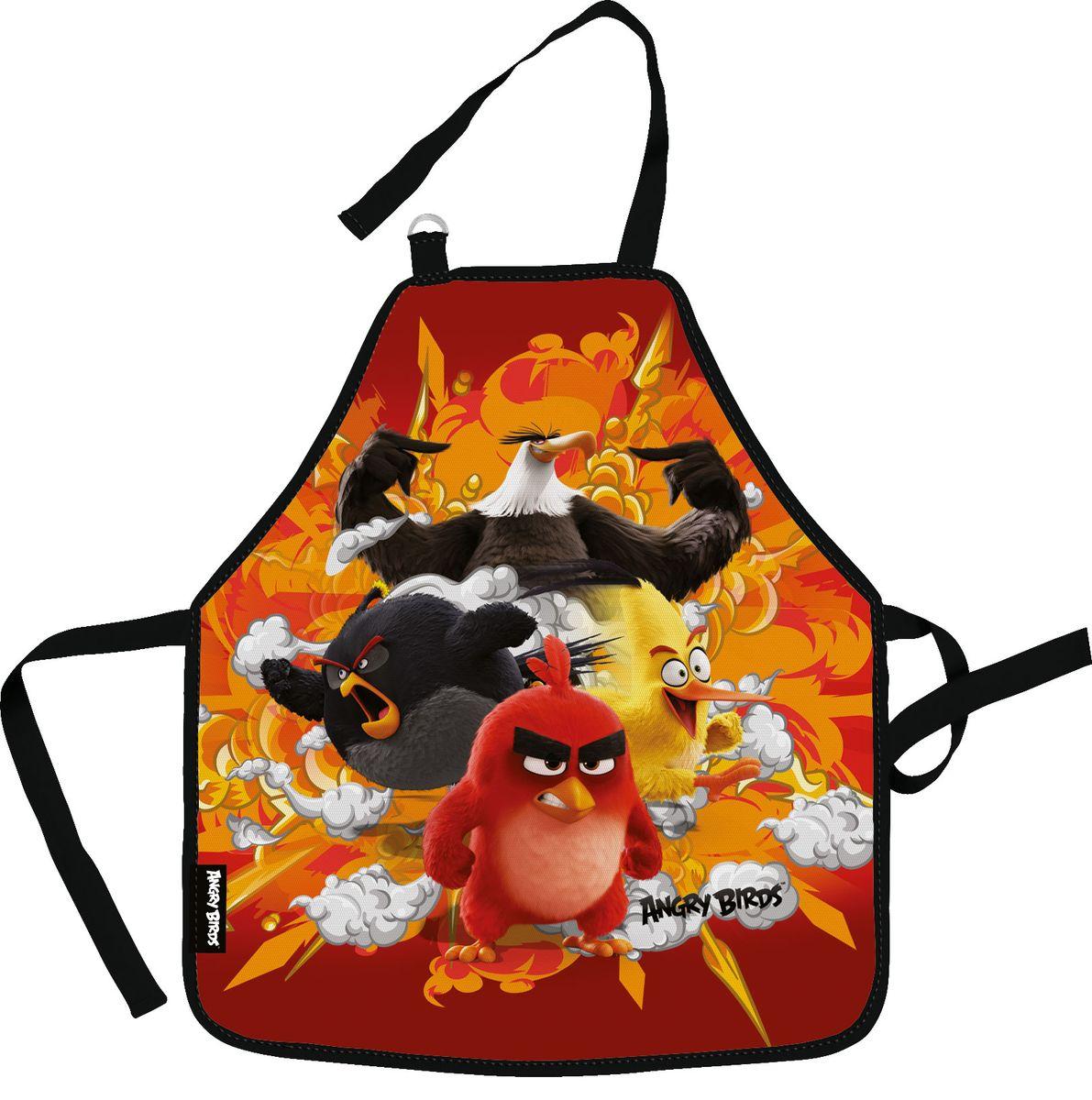 Angry Birds Movie Фартук для труда с нарукавниками цвет красный оранжевый черный