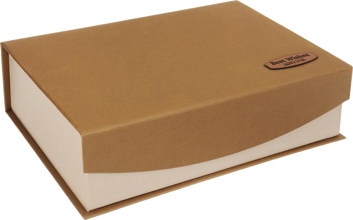 Коробка подарочная Packing Symphony Best Wishes, цвет: коричневый, бежевый, 28 х 17 х 8,5 см80036959Картонная коробка Packing Symphony Best Wishes - это один из самых оригинальных вариантов упаковки подарков. Любой, даже самый нестандартный подарок упакованный в такую коробку, создаст момент легкой интриги, а плотный картон сохранит содержимое в первоначальном виде. Оригинальный дизайн самой коробки будет долго напоминать владельцу о трогательных моментах получения подарка.