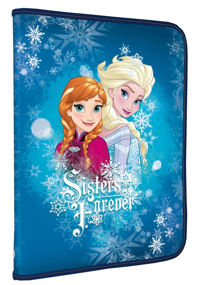 Disney Frozen Папка для тетрадей Sisters ForeverFZDB-US1-PTRA4Папка Disney Frozen Sisters Forever формата А4 - это оптимальный способ уберечь от деформации тетради, документы, рисунки и прочие бумаги. С ней можно забыть о погнутых уголках и краях. Кроме того, теперь все необходимые бумаги и тетради будут аккуратно собраны, а не распределены по разным местам, что сократит время их поиска. Папка выполнена из полипропилена и застегивается на молнию. Внутри - откидной клапан с креплениями для школьных принадлежностей и секцией для тетрадей, рисунков и бумаг формата А4.