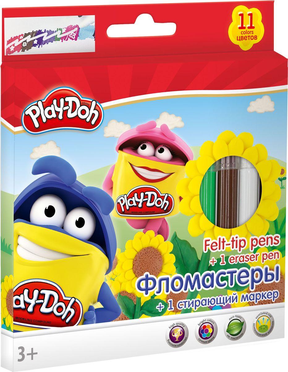 Play Doh Набор цветных фломастеров 12 штPDDB-US1-17MB-12Набор фломастеров Play Doh предназначен специально для рисования и закрашивания. Он обязательно порадует юных художников и поможет им создать яркие и неповторимые картинки. Фломастеры выполнены из нетоксичного пластика и имеют прочный утолщенный наконечник. В комплекте с фломастерами идет один стирающий маркер.