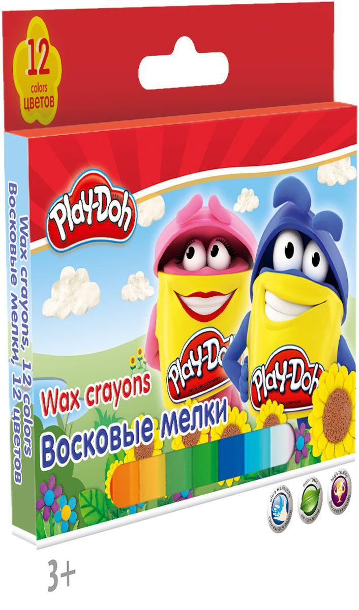 Play Doh Набор 12 шт PDDB-US1-CR12PDDB-US1-CR12Набор восковых мелков для рисования на бумаге и картоне 12 шт./12 цв. Корпус каждого мелка пластиковый с выдвижным механизмом. Набор упакован в картонную коробку с европодвесом.