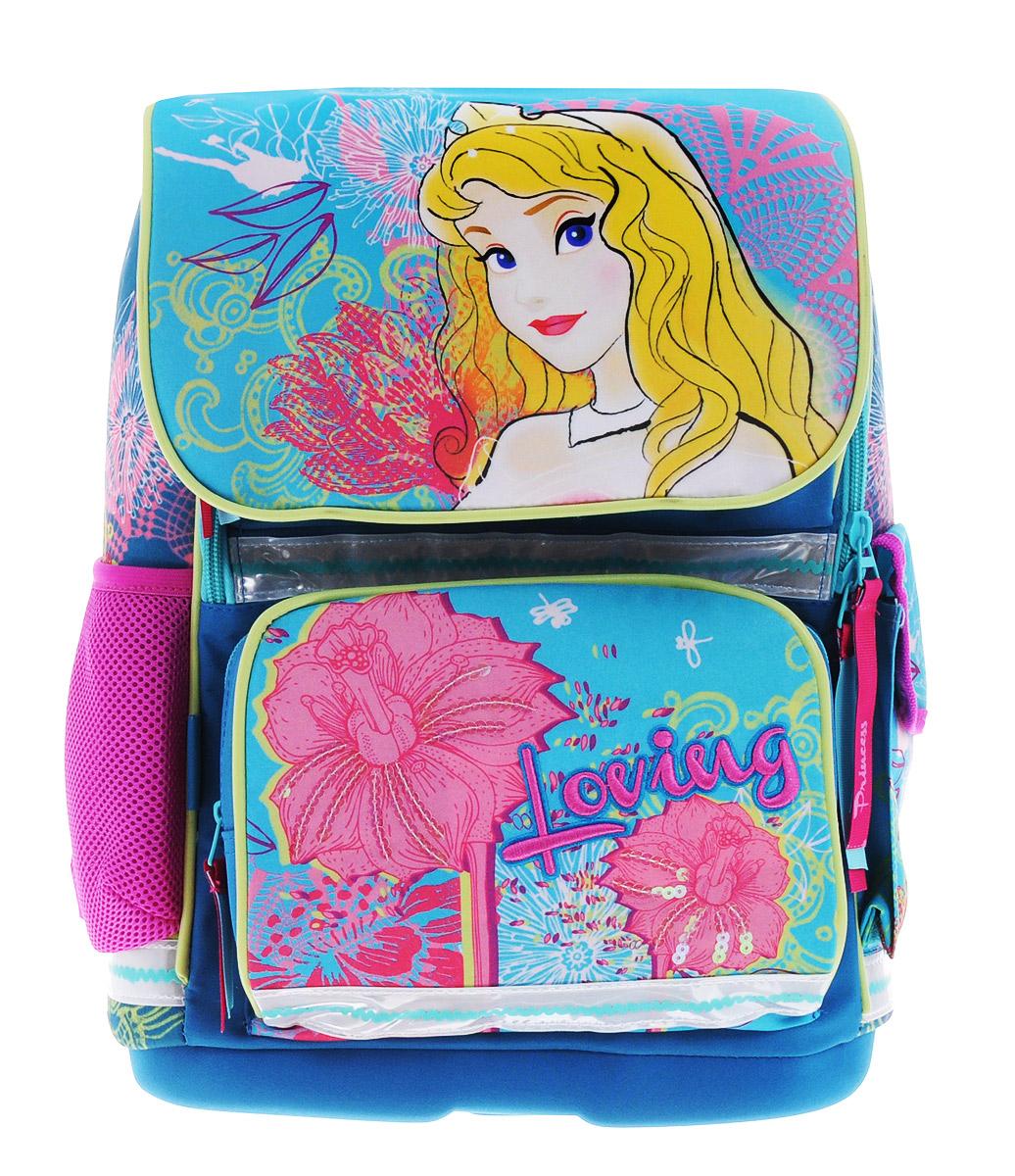 Seventeen Ранец школьный Disney PrincessPRCB-RT2-537Ранец школьный Disney Princess - это красивый и удобный рюкзак, который подойдет всем, кто хочет разнообразить свои школьные будни. Ранец выполнен из плотного материала и оформлен оригинальным принтом и вышивкой. Рюкзак имеет одно большое отделение и закрывается на молнию и клапан на липучках. Отделение содержит внутри мягкую перегородку и резинку-держатель. На лицевой стороне рюкзака и под клапаном расположены накладные карманы на молниях. По бокам - один карман-сетка и один закрытый карман на липучке. Рюкзак также оснащен удобной ручкой с резиновой насадкой для удобной переноски и светоотражающими элементами. Широкие регулируемые лямки и сетчатые мягкие вставки на спинке рюкзака предохранят мышцы спины ребенка от перенапряжения при длительном ношении. У ранца имеется грудное крепление-стяжка для фиксации на плечах ребенка. Дно ранца выполнено из пластика, обтянутого тканью, оно не деформируется, обеспечивает ранцу хорошую устойчивость и легко...