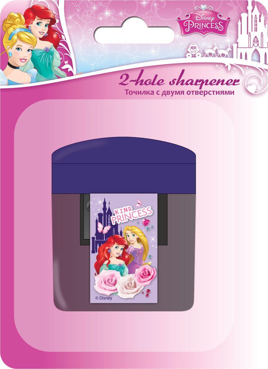 Disney Princess Точилка 2 отверстияPRCB-US1-221-BL1Точилка Disney Princess - качественная точилка с двумя отверстиями. Имеет контейнер для стружки. Подходит для обычных и утолщенных карандашей с диаметрами 8 мм и 11,5 мм.