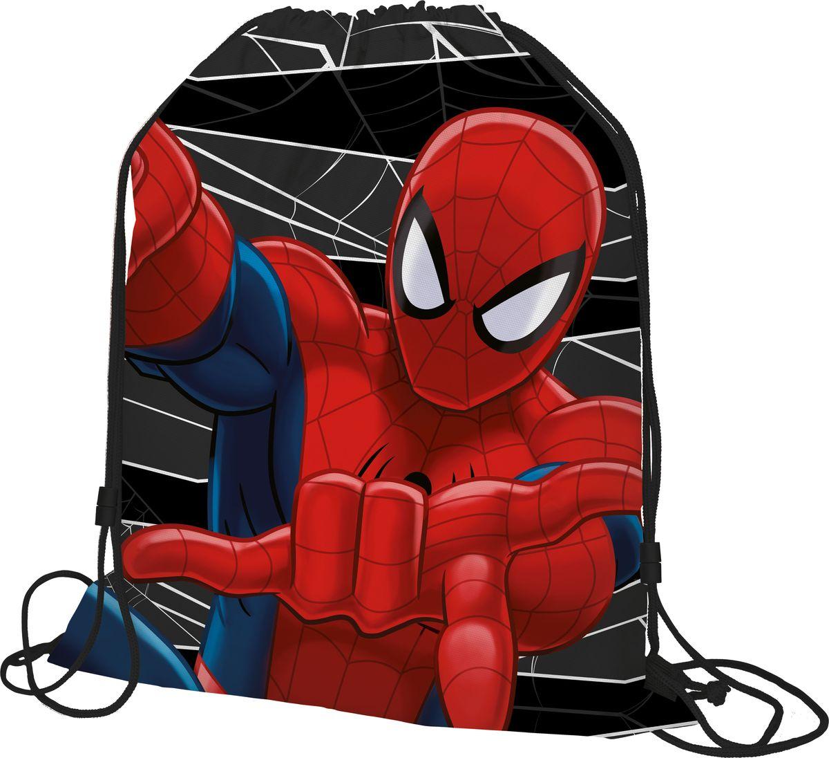 Spider-man Classic Мешок для обуви Spider-man ClassicSMDB-MT1-883Мешок для переноски обуви, выполнен из плотного водостойкого материала, затягивается сверху шнуром-лямкой и носится, как рюкзак. Размер: 43 х 34 х 1 см.