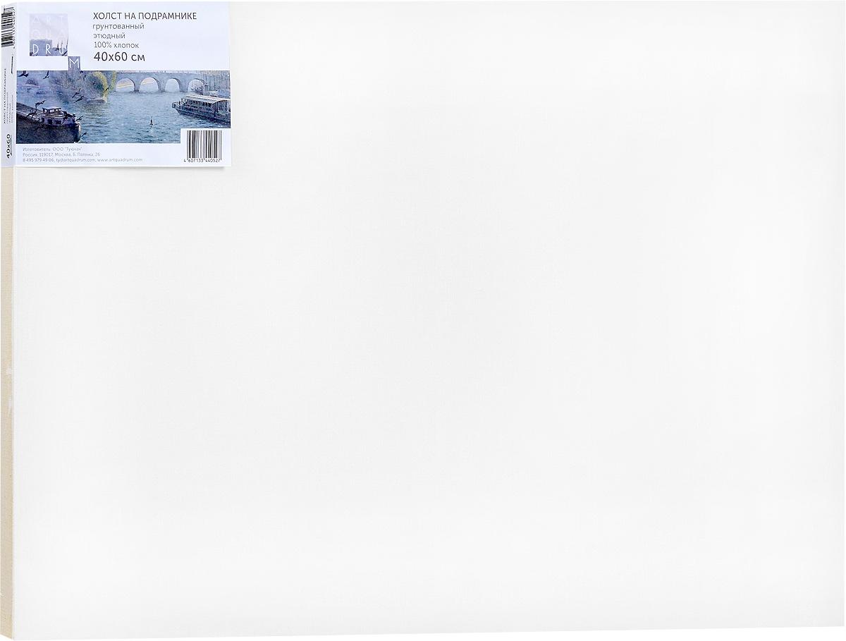 Холст ArtQuaDram Этюдный на подрамнике, грунтованный, 40 х 60 смТ0015343Холст на деревянном подрамнике ArtQuaDram Этюдный изготовлен из 100% натурального хлопка. Подходит для профессионалов и художников. Холст не трескается, не впитывает слишком много краски, цвет краски и качество не изменяются. Холст идеально подходит для масляной и акриловой живописи.