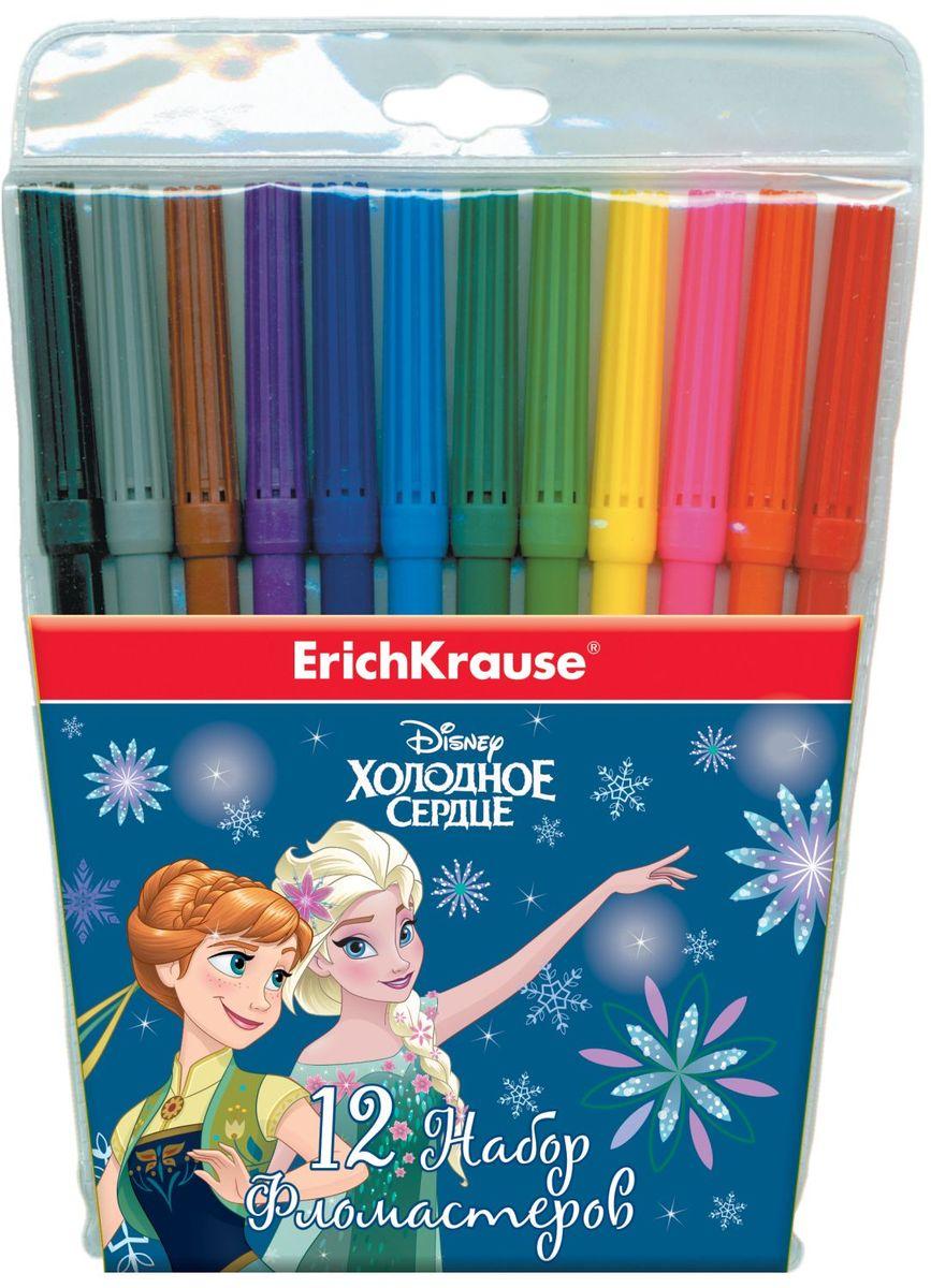 Erich Krause Набор фломастеров Elsa 12 цветов39712Набор фломастеров Erich Krause Elsa поможет вашему ребенку создать неповторимые яркие картинки. Фломастеры снабжены вентилируемыми колпачками, безопасными для детей. Чернила стойкие к высыханию. Длина письма - около 600 метров.