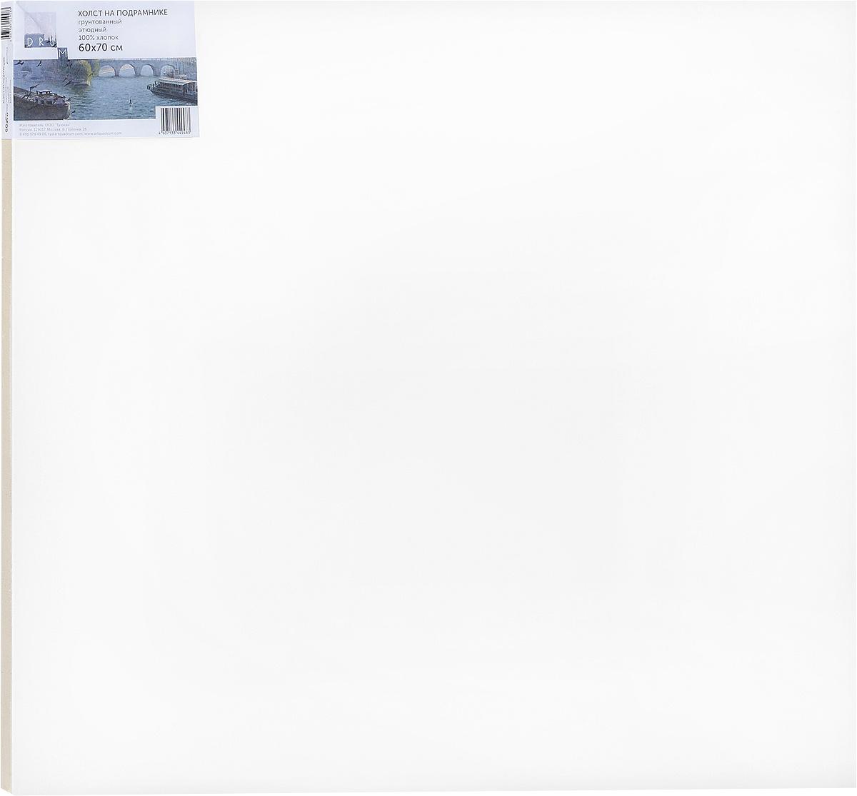 Холст ArtQuaDram Этюдный на подрамнике, грунтованный, 60 х 70 смТ0015357Холст на деревянном подрамнике ArtQuaDram Этюдный изготовлен из 100% натурального хлопка. Подходит для профессионалов и художников. Холст не трескается, не впитывает слишком много краски, цвет краски и качество не изменяются. Холст идеально подходит для масляной и акриловой живописи.