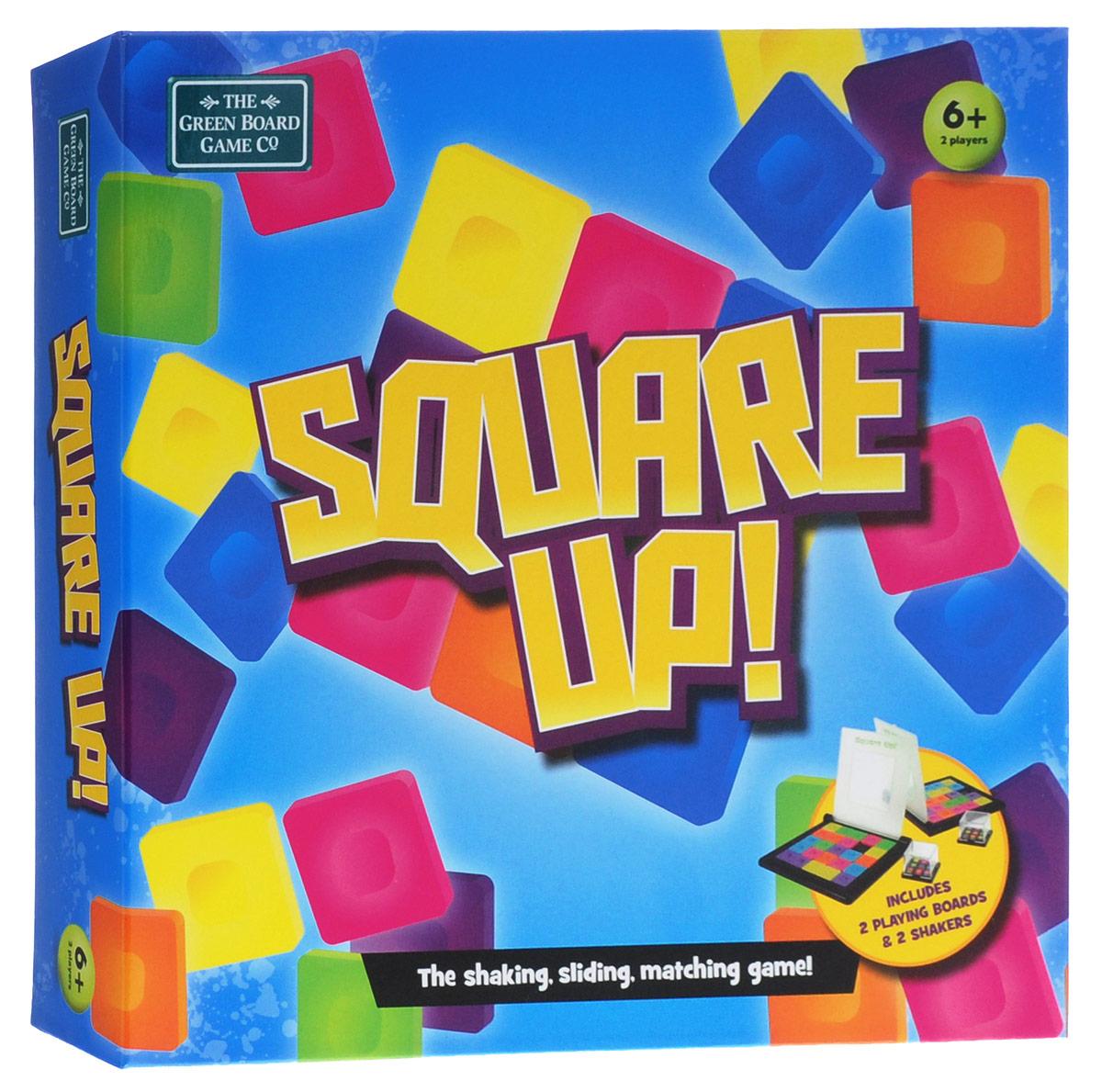 The Green Board Game Co Настольная игра Square Up!20007Настольная игра The Green Board Game Co Square Up! - игра, для которой нужно знание иностранного языка, игра представлена на английском языке. Это головоломка для двух человек, где вы наперегонки собираете правильную последовательность цветных квадратиков на индивидуальном игровом поле. Цель игры: как можно быстрее изобразить сочетание цветов на своем игровом поле, передвигая квадратики в горизонтальном и вертикальном направлении. Квадратики нельзя поднимать, а можно только передвигать! Игра состоит из двух полей и двух кубиков. Каждое поле имеет по 25 плоских квадратов разных цветов, а каждый кубик состоит из 9 маленьких кубиков с разноцветными поверхностями. Перед игрой, каждый встряхивает свой кубик и передает его другому игроку. Из этих кубиков образуется цветное поле. Кто быстрее справится с задачей, тот станет победителем. Игровое поле и кубики выполнены из пластика.