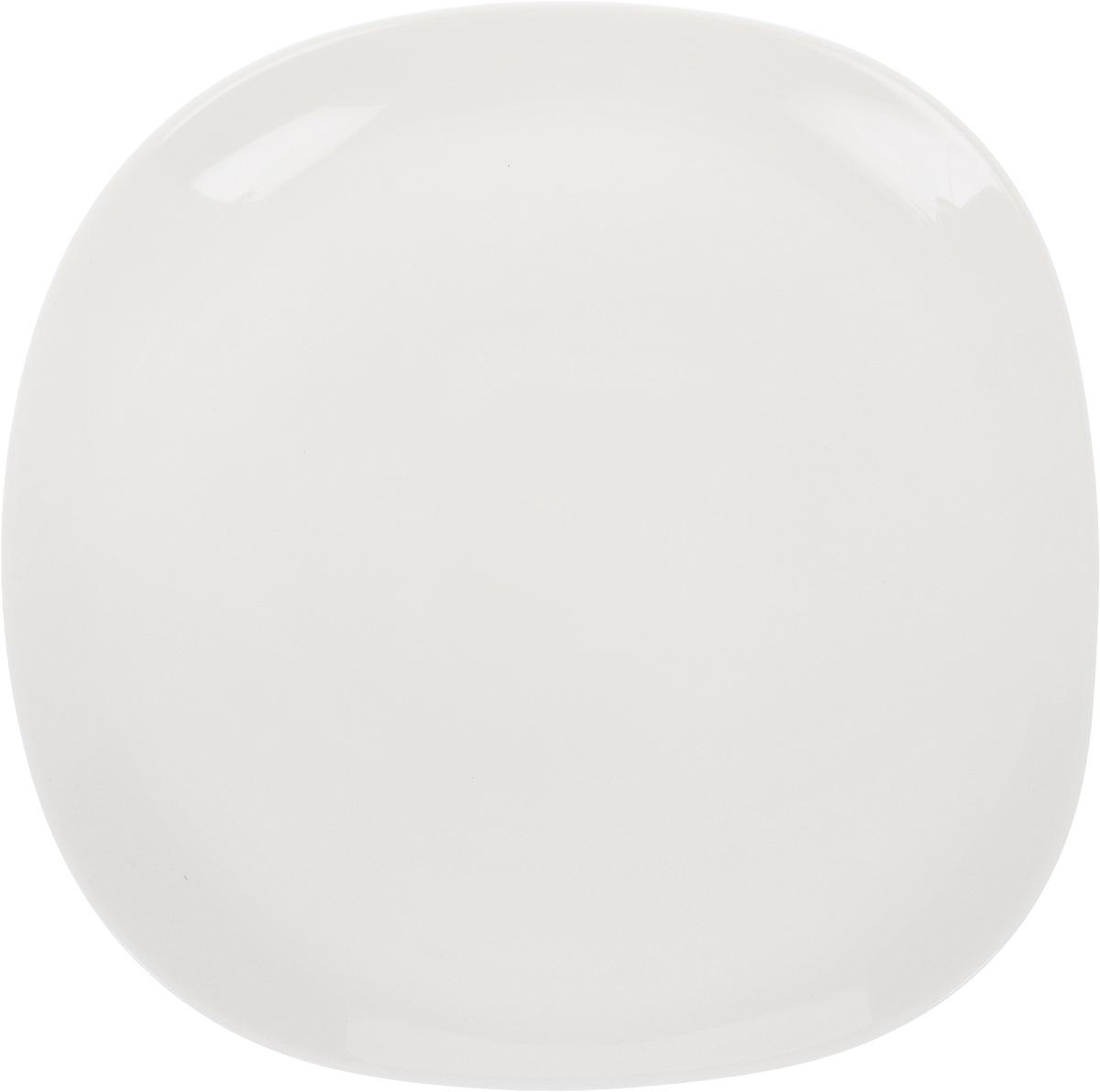 Тарелка десертная Luminarc Yalta Bone, 26 х 26 смG9835/J2421Десертная тарелка Luminarc Yalta Bone, изготовленная из ударопрочного стекла, имеет оригинальную форму. Такая тарелка прекрасно подходит как для торжественных случаев, так и для повседневного использования. Идеальна для подачи десертов, пирожных, тортов и многого другого. Она прекрасно оформит стол и станет отличным дополнением к вашей коллекции кухонной посуды. Можно мыть в посудомоечной машине. Размер тарелки: 26 см х 26 см.